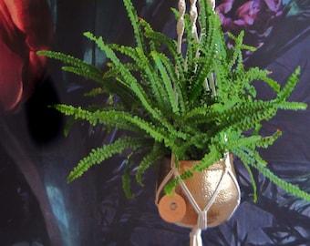 Macrame Flower Light Plants Boho Handmade