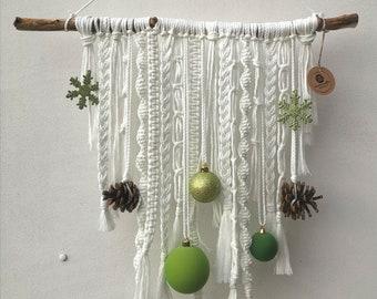 Macrame Wall Hanging Sustainable Handmade Christmas Decoration