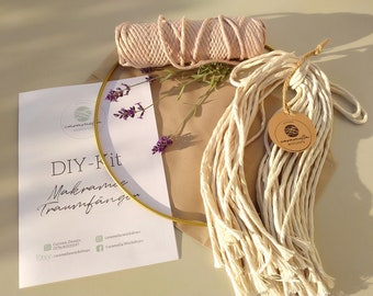 Macrame DIY Kit Geometric Dream Catcher Material Package Workshop for Home