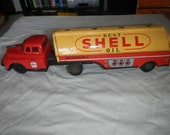 Linemar tin friction shell gas tanker truck