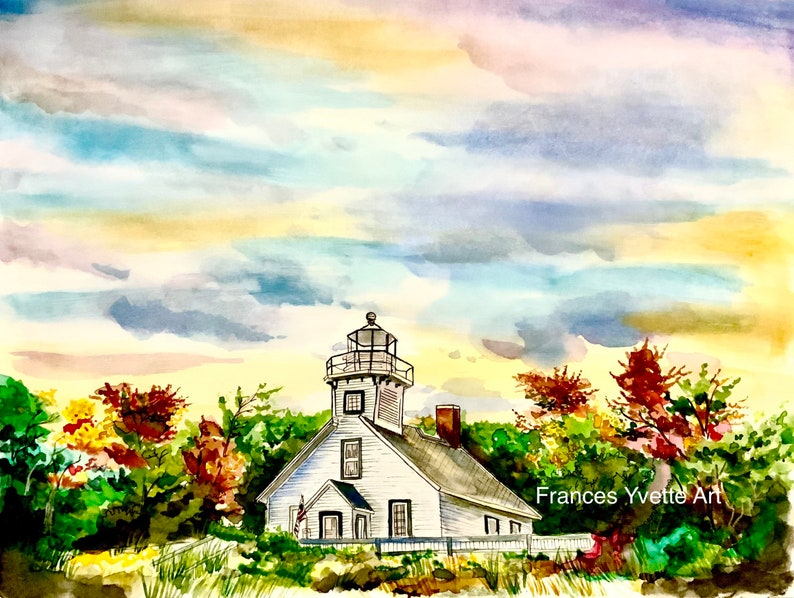 Mission Point Lighthouse Art Print image 0