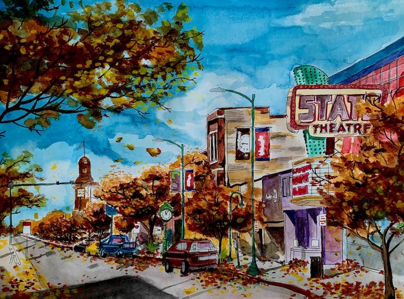 Front Street Traverse City Art Print image 0