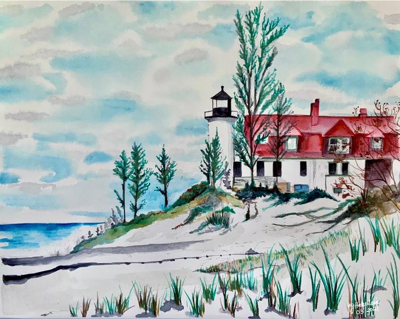 Point Betsie Lighthouse Art Print image 0