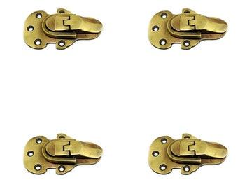 Jewelry Box Hasp Trunk Hasp Rustic Iron Latch 1PC 52x95mm Antique Bronze Iron Latch Latch Lock SK011 Trunk Latch