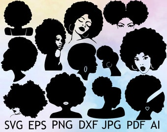 Afro Silhouette Etsy