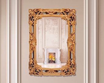 Antique Gold Mirror, Rococo Style inspired by 19 Century Design