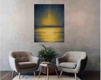 Sunrise Abstract, Printed on Metal, Printed on Aluminum