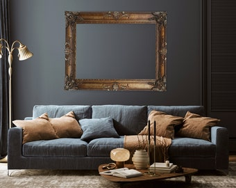 Vintage Canvas Frames, Available in Custom Sizes and Colors, Made out of wood, Hand Carved