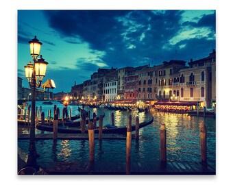 Grand Canal Venice, Print on Metal, Dusk Photography