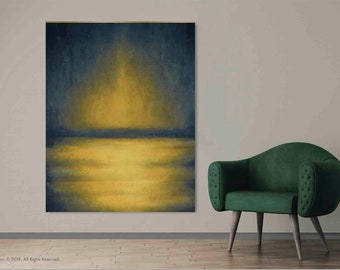 Sunrise Abstract Canvas, Alcohol Ink, Ink Painting, Extra Large Wall Art, Modern Wall Art, Large Canvas Print, Large Giclee Print