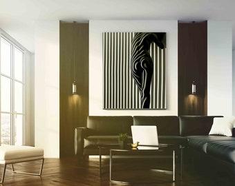 Nude Woman Plexiglass,  Black and White photography, Extra Large Wall Art, Modern Wall Art, Large Print, Oversized art