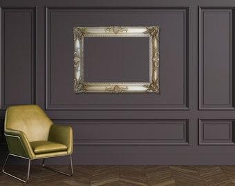 Silver Large Frames, Large Vintage Frames, Oversized Decorative Frames, Large Frames for Canvas, Antique Frames, Many colors available
