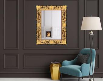 Antique Gold Mirror, Inspired by European, 19th Century Design