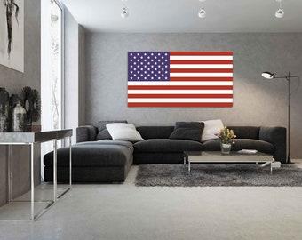 American Flag on Plexiglass, on Acrylic, Timeless and Elegant