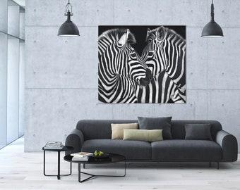 Zebra Plexiglass Print, Black and White, Animal Print, Acrylic