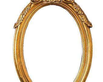 Antique Mirror Gold, Handmade, Victorian Era Inspired
