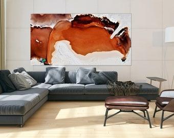 White Red Abstract Art, Print on Plexiglass, Large Plexiglass, Oversized Art, Acrylic Print