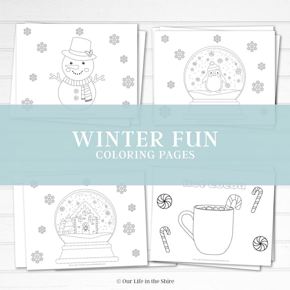 Winter Fun Coloring Pages  Toddler  Preschool  Kindergarten