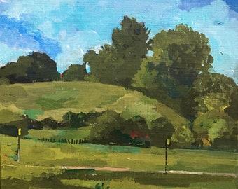 Landscape - UCSC Bike Path - green hills