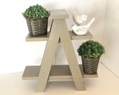 Wooden Ladder Plant Stand, Tabletop Plant Stand, Tiered Tray Stand, Ladder Display Stand, Tiered Display Stand, Ladder Plant Shelf