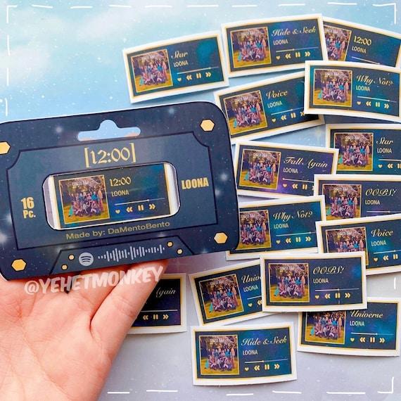 LOONA- Midnight Album Kpop Journal Stickers 12:00