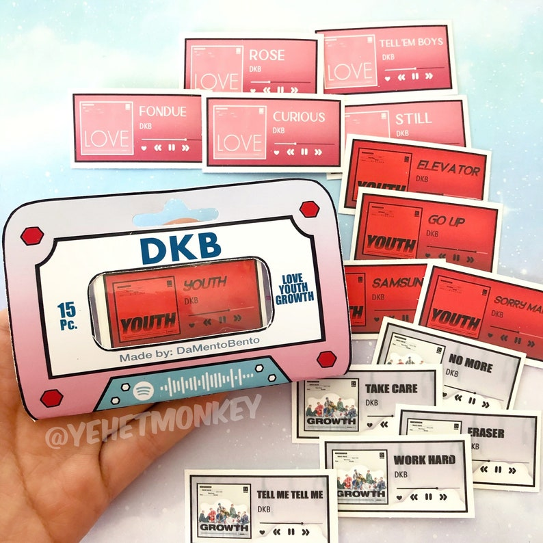 Growth Albums Kpop Journal Stickers Love DKB Youth