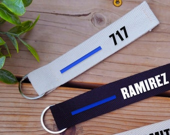 Handmade Police Cop Sheriff Lanyard with Removable Key Chain End 1 wide