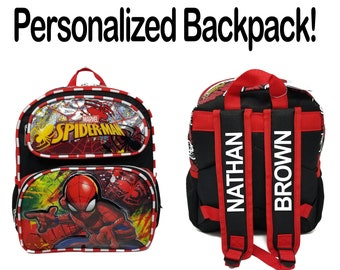 Everyday Kids All Ages Teens Adults Great Gift Vacation School Any Occasion Drawstring Backpack Spider-Man Motif