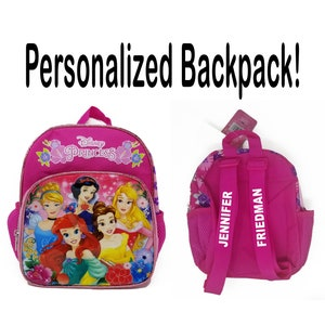 Personalized Disney Princess Snow White Backpack with your name Embroidered Stitched
