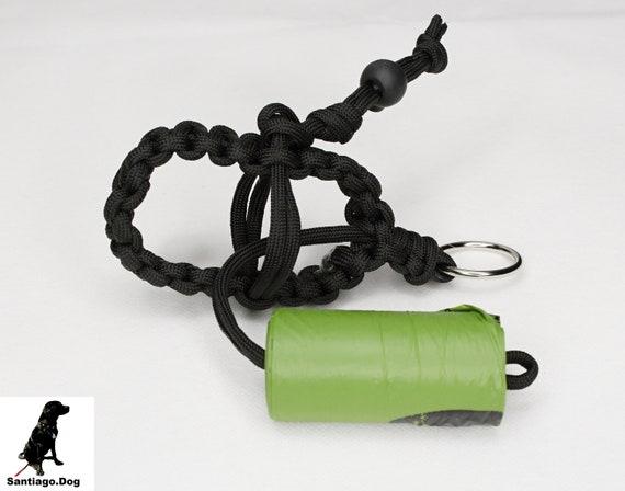 Practical Paracord bag dispenser Dog Friend with feces bag holder in lavender ros\u00e9
