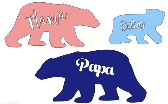 Bear Family Car Decals Etsy