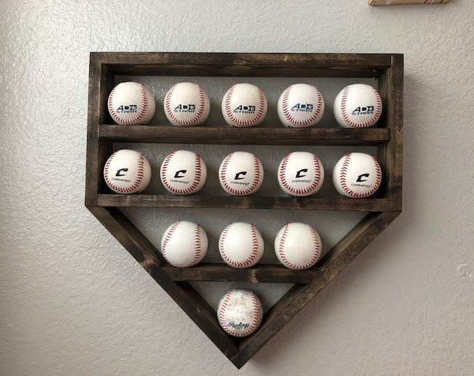 Baseball Shelf Display-14 ball holder