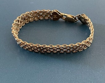 ONSALE Sterling Silver Vintage Handmade Popcorn Bracelet Made in Milor Italian Jewelry