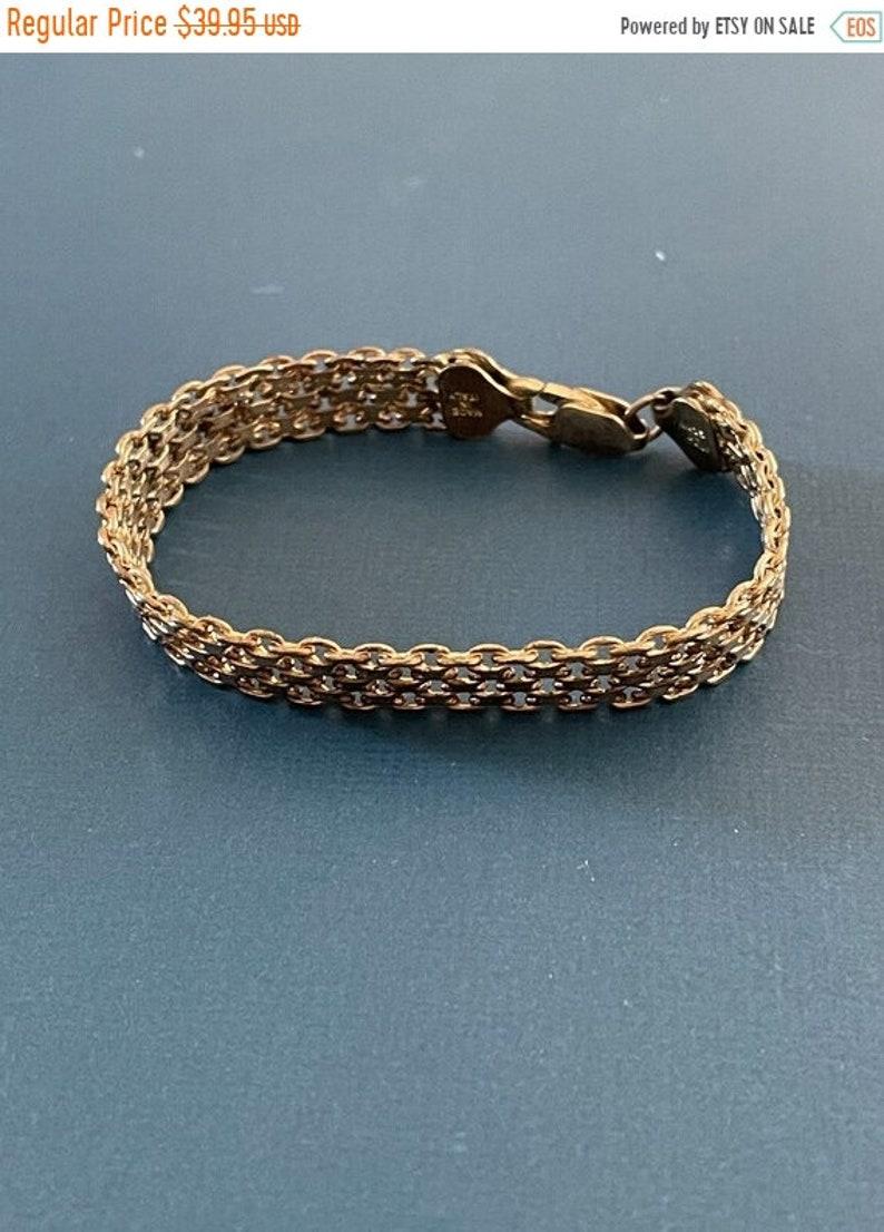 ONSALE Sterling Silver Vintage Handmade Popcorn Bracelet Made image 1