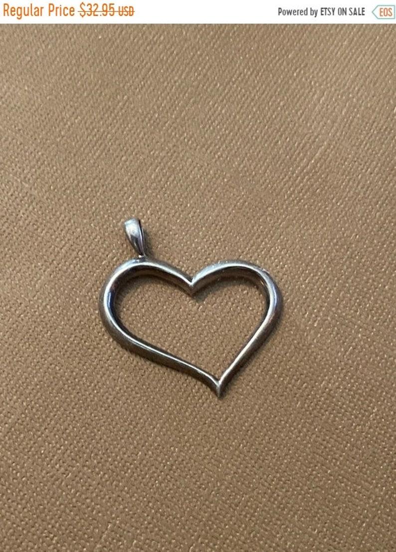 ONSALE Modern Style Heart Sterling Silver Handmade Pendant image 1