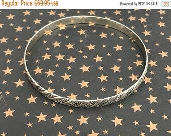 ONSALE Vintage Sterling Silver Danecraft Ornate Bangle Bracelet Ornate design Bracelet