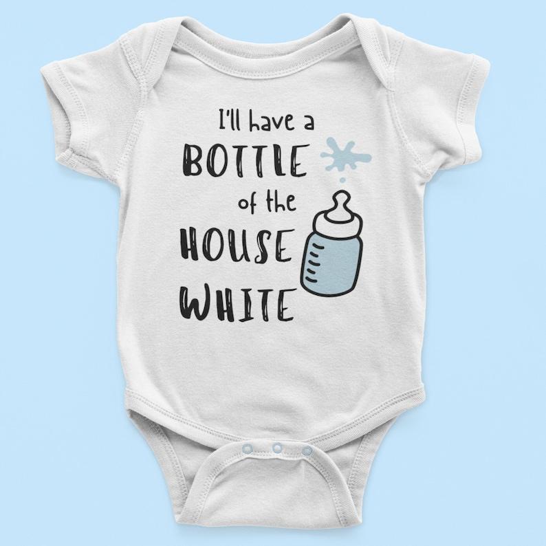 The House White Organic Cotton Top Breastfeeding Onesie Milk Belly Onesie Funny Baby Clothes Unique Baby Onesies New Baby Onesie