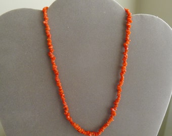 Vintage Natural red  Coral Choker Necklace