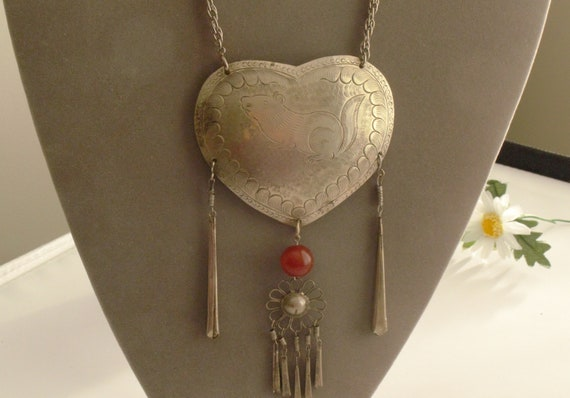 Vintage Silver Lock Rat Necklace,Nice and Beautifu