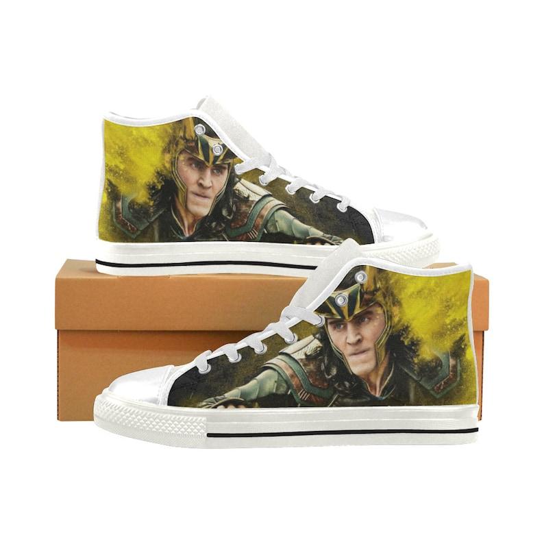 High tops Loky custom canvas shoes men Loky shoes kids,High tops sneakers horror shoes canvas shoes women