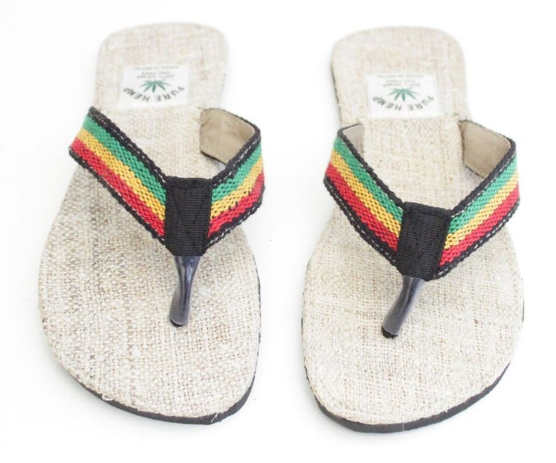 Rasta Summer Flip Flops by HempHemisphere
