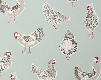 Farm Animal Sketches Curtain Fabric per metre