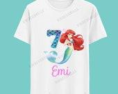 The Little Mermaid Birthday Tshirt / La Sirenita Camisa de cumpleaños