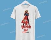 Captain Marvel Birthday Tshirt /Captain Marvel Camisa de cumpleaños