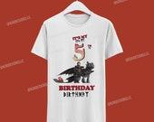 How to train your Dragon Birthday Tshirt / Como entrenar a tu Dragon Camisa de cumpleaños