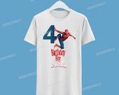 Spiderman Birthday Tshirt / Spiderman America Camisa de cumpleaños
