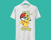 Pokemon Birthday Tshirt / Pokemon Camisa de cumpleaños
