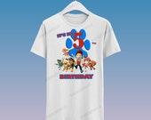 Paw Patrol Birthday Tshirt / Camisa de cumpleaños de Paw Patrol