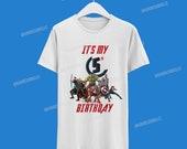 Avengers Birthday Tshirt /Avengers Camisa de cumpleaños