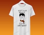 Harry Potter or Hermione Birthday Tshirt / Camisa de cumpleaños Harry Potter o Hermione